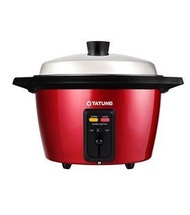 TATUNG - 11 Cups Multi-Functional Stainless Steel Rice Cooker with Steamer (RED)