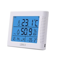 cek suhu badan Electronic Temperature Hygrometer Display Instrument Laboratory Industrial Charging Temperature Household