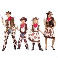 超值新款!男女牛仔服裝圣誕節兒童牛仔服裝 成人西部牛仔服裝 性感牛仔帽槍
