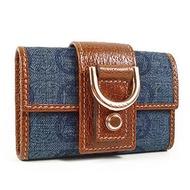 GUCCI 丹寧布D環鑰匙包(藍)
