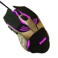 paddy 台菱 PD-TU68 六鍵炫彩電競滑鼠 雷射感應 LED柔彩呼吸燈 多段DPI 1.5M 有線滑鼠