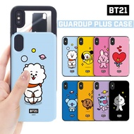 【BT21 x LINE FRIENDS】 BTS BangTan iPhone Galaxy Guard Up Plus Case GIFT!