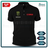 Yamaha Monster Polo T Shirt Sulam MotoGP Motorcycle Motosikal Superbike Racing Team Casual Y125Z LC135 RXZ TZM SRL Y15