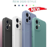 Case iPhone 11 Pro Max X XS XR  6 7 8 6S Plus 7P 8P Plus Casing Quick Convert To iPhone 12 New Liqueid Silicone Candy Phone Case Soft Matte Camera Lens Protector Full Cover