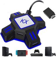 【日本代購】ROTECK 鍵盤滑鼠連接適配器遊戲控制器轉換Switch/ PS4 / PS3 / Xbox One /相容