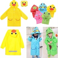 Children's Hoodie Raincoat / Cute Animal Motif Raincoat / Funny Rain Coat For Kids.