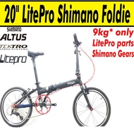 9kg 20inch 9speed Litepro Fnhon Shimano Foldie Foldable Folding Bicycle Bike KA2018 KAD2018 Hito Hachiko Brompton 3sixty