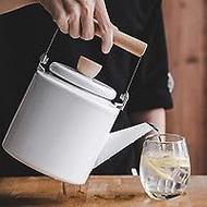 Ấm trà tráng men Ấm đun kem Ấm gia dụng Công suất lớn Ấm đun nước Ấm đun nước thẳng Ấm pha trà Bếp điện từ
