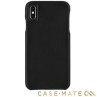 【美國 CASE-MATE】iPhone XS Max Barely There Leather(簡約超薄真皮手機殼 - 黑)
