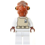 玩樂趣 LEGO樂高 7754 Admiral Ackbar 二手人偶(SW0247)