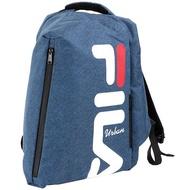 FILA 經典大Logo後背包-藍【愛買】