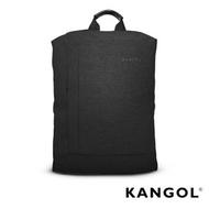 KANGOL韓國IT男爵系列-防潑水男女休閒機能後背包-混織黑 KG1155