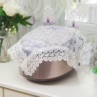 Round Rice Cooker Cover Dust Cover Electric Cooker Cover Towel Pastoral Lace