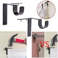 Single Hang Curtain Rod Holders Bracket Into Window Frame Curtain Rod Bracket