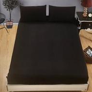 【JEN】素色雙人單件床包-黑色150*200cm(雙人)