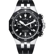 【EDOX 伊度】Delfin 水上冠軍專業200米防水計時碼錶-黑錶圈/43mm(E10109.357NCA.NIN)