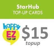 Starhub $15 Happy 55 Prepaid Electronic Top-up
