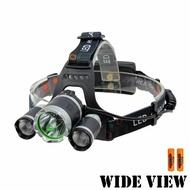 【WIDE VIEW】3T6遠射頭燈組(附電池+充電器NZL-RJ3K-2BC)