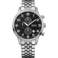 HUGO BOSS 1512446 三眼計時帶日期設計 鋼錶帶 實體店面 正品販售