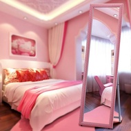 穿衣鏡 歐式 賣衣服用的女生穿衣鏡落地全身超大試衣鏡用粉色鏡子家用式包郵(尺寸不同價格不同)