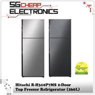 Hitachi R-H310P7MS 2-Door Top Freezer Refrigerator (260L)