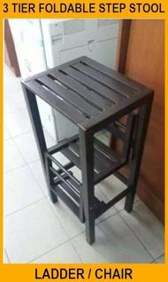 3 Tier Foldable Step Stool / Ladder Stool / Chair / Kerusi Bertangga.w1 - 3V
