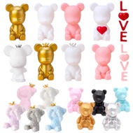 READY STOCK Ins Bearbrick Cake decoration silicone bear cute violent bear cake topper cake decorations bear