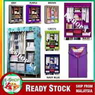 Almari baju pakaian kain wardrobe Home Living Storage saving Rak Rack Cabinet rak serbaguna pelajar student kanak budak