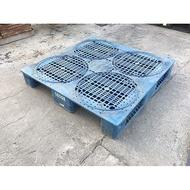 [龍宗清] 塑膠棧板(單面4插) (14080105-0084) 120X120 塑膠棧板 棧板 中古塑膠棧板 二手塑膠
