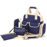 Babybox กระเป๋าใส่ขวดนม กระเป๋าแม่ลูกอ่อน กระเป๋าเดินทางเด็กเล็ก กระเป๋าสัมภาระคุณแม่ กระเป๋าเด็กแรกเกิด เซทของขวัญเด็กแรกเกิด สีกรม