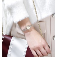 Agete Retro Small Square Watch Lady Japanese Watch Champagne Gold Roman Numerals Ins Wind Wrist Watch
