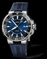 ORIS 豪利時AQUIS GMT雙時區陶瓷圈潛水錶 0179877544135-0742465EB