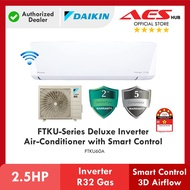 [ WIFI ] Daikin 2.5HP FTKU Series Deluxe Inverter R32 Gas Air Condtioner FTKU60A Inverter Aircond Penghawa Dingin 冷气机