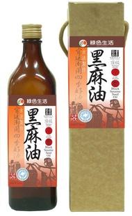 綠色生活 冷壓黑麻油 600ml/瓶 (提盒)