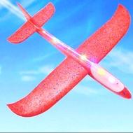T.P. TOYS เครื่องบินโฟมมีไฟ เครื่องร่อนทำจากโฟม รุ่นใหม่ มีไฟที่ลำตัว ขนาด 48 ซม. คละสี