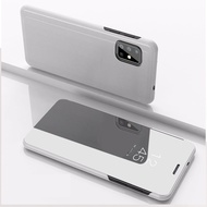 Samsung Galaxy A51 Case Electroplate Mirror Phone Cover Samsung A51 GalaxyA51 Case Flip Stand Casing