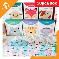 3d kids mask Children's masks 3D 50 pcs/box Baby Face Mask 儿童口罩一次性3D立体