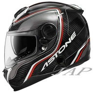ASTONE GT1000F AC2 透明紅碳纖 雙鏡片雙D扣全罩安全帽《送折價卷600元》