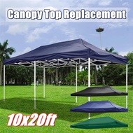 10x20ft Up Canopy Top Replacement Tent Patio Gazebo Canopy 420D Sun Shade【Not Frame】