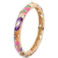 景泰藍手鐲 鍍金鐲子 女時尚寬複古手環手工