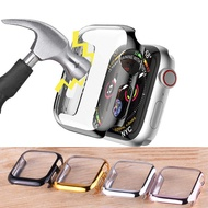 New 360 Full Screen Protector Bumper Casing ปลอกป้องกัน Ultra Slim บาง PC Hard Case for Apple Watch Series 3/2 38MM 42MM Cover Band for Apple Watch 4/5 40mm 44mm