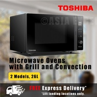 TOSHIBA 26L MICROWAVE OVEN WITH GRILL AND CONVECTION [MW2-AC26TF/MV-TC26TF] - MULTI MODELS