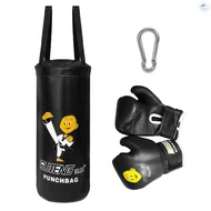 Freew Kids Punch Bag and Gloves Boxing Hanging Punch Bag with Gloves Kick Boxing Bag and Training Gloves Youth Muay Thai Punching Bag Mitts Age 3 to 12 Years Old