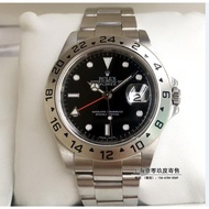 ROLEX 勞力士16570 老款探險家黑盤紅針GMT手錶 探二探2兩地時男表