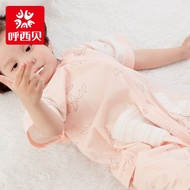 全新2019新款兒童睡袋 小清新女寶海燕 分腿式大童防踢被 短袖連體衣 棉