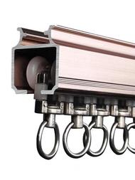 窗簾軌道 滑輪滑軌 鋁合金導軌單軌道直軌羅馬桿窗簾桿頂裝側裝滑道