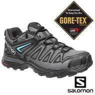【SALOMON 法國】女 X ULTRA3 PRIME GTX低筒登山鞋『磁灰/黑/亞綠』402462