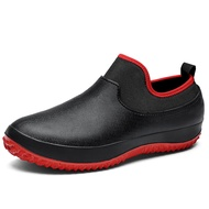 Unisex Non-slip Waterproof Garden Safety Shoes Slip On Elasticity Ankle Boots Car Wash Work Shoes Rain Boot Men Women Size 36-49