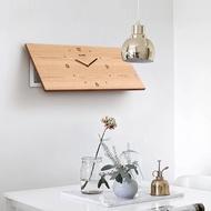 實木表 北歐 電表箱裝飾畫帶鐘表裝飾時鐘遮擋箱遮電箱的掛鐘定制