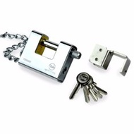 Yale 1800/80/117/1 Keyed Armour Plated Padlock Silver